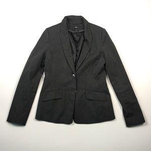 H&M Womens Grey Pinstripe Blazer 8 C1712